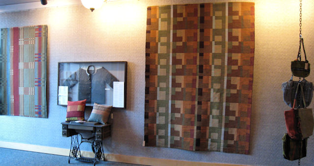 textile display at the dining room at 209 main